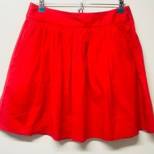 Banana Republic Red Skater Skirt with Pockets
